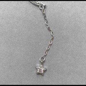 """ZokyDoky Jewelry - .925 Sterling Silver/CZ """"Y"""" Moon/Star Necklace,NWT"""